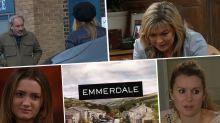 Next week on 'Emmerdale': Kim's new health crisis, Jamie and Dawn reunite, plus Jimmy shocks Nicola (spoilers)