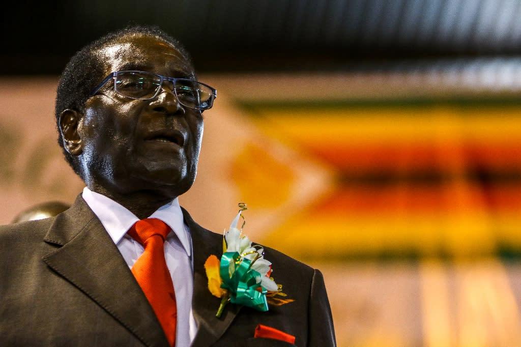 Zimbabwe President Robert Mugabe, the former political prisoner turned guerrilla leader, swept to power in 1980 (AFP Photo/JEKESAI NJIKIZANA)