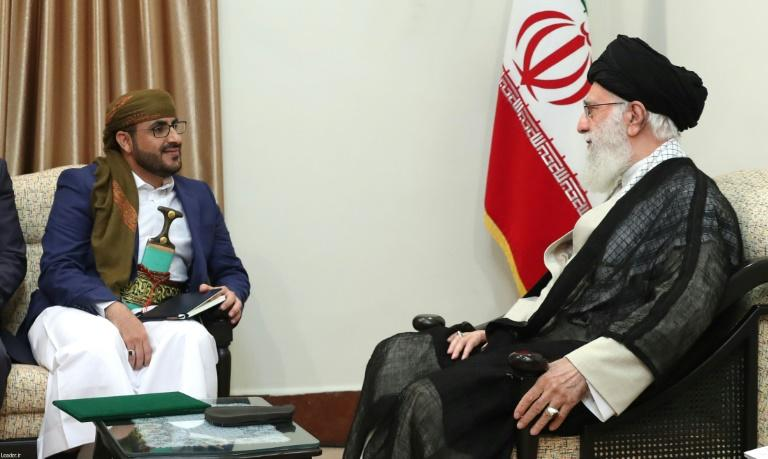 """Iran's supreme leader Ayatollah Ali Khamenei has renewed support for Yemen's Huthi rebels in talks with their spokesman Mohammed Abdul Salam, and accused Saudi Arabia and the United Arab Emirates of a """"plot"""" to partition the war-torn country"""