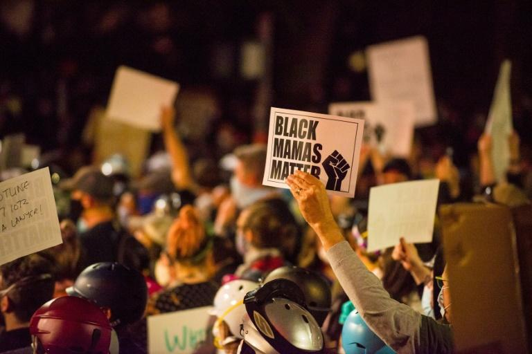 Portland has seen nightly protests against racism and police brutality for nearly two months, initially sparked by Floyd's death (AFP Photo/Kathryn ELSESSER)