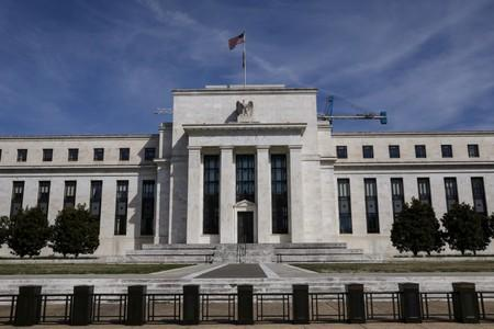 FILE PHOTO: The Federal Reserve Board building on Constitution Avenue is pictured in Washington