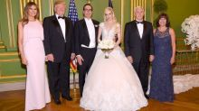 Trumps attend Steve Mnuchin's wedding, officiated by Mike Pence