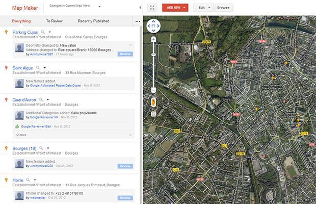 Updated Google Map Maker accents neighborhoods, shows changes in Activity Stream
