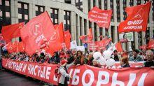 Comunistas e liberais protestam por 'eleições honestas' em Moscou
