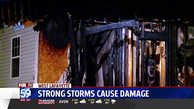 Storms Cause Damage, Fires Across Central Indiana