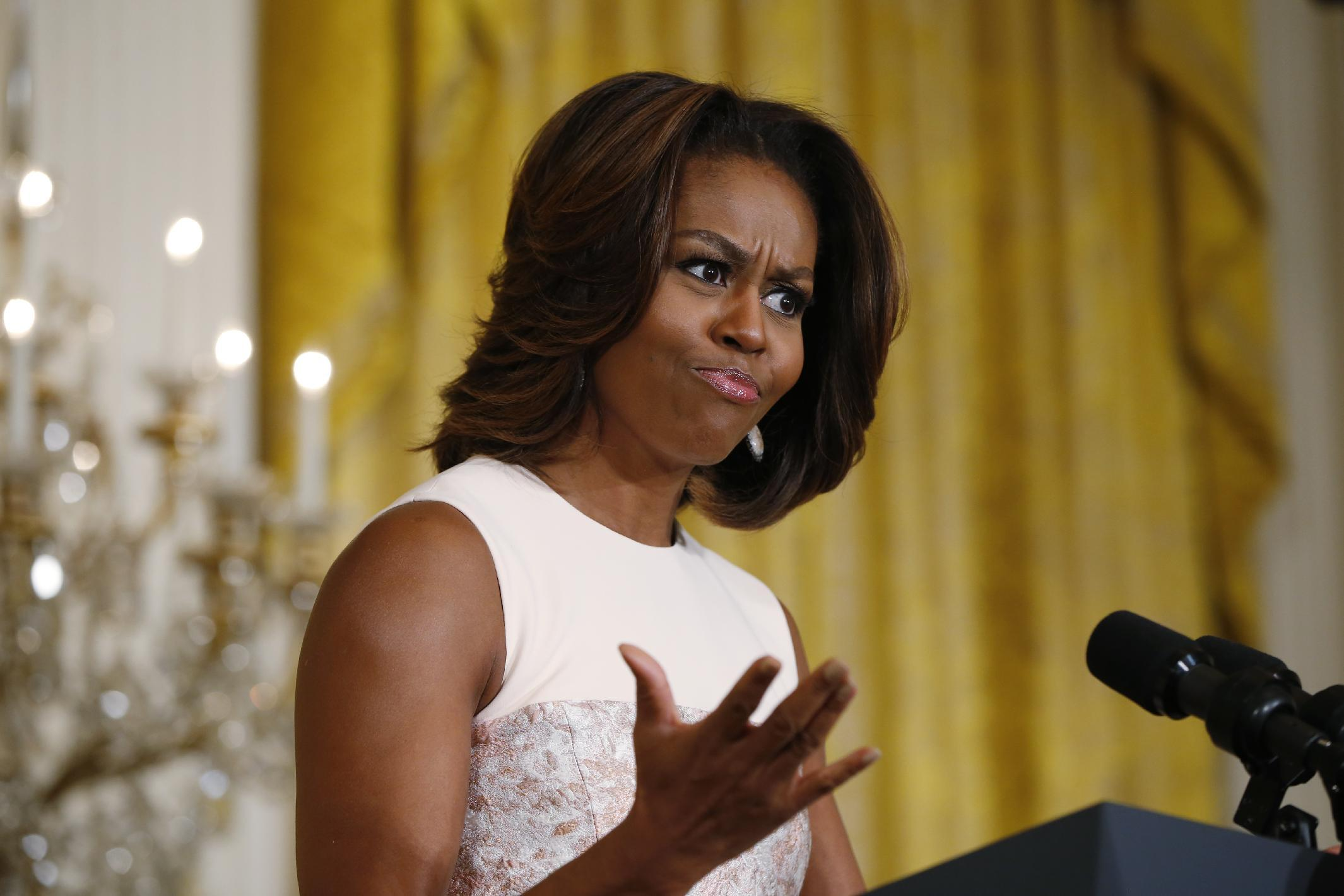 Michelle Obama Honored By Portrait Installation