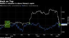 Netflix Market Cap Surpasses Disney Amid'Stay at Home' Orders