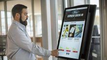 Ford tests digital kiosks at service areas at its dealerships