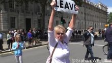 March For Europe Demonstration Sees Leave Voter Clash With Remain Camp