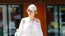 Gigi Hadid's Poofy Sleeves Make a Statement at Milan Fashion Week