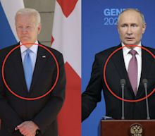 Russian state news trashed Biden's choice of tie, saying it looked like it belonged in the kid's collection