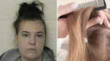 Mum arrested as daughter, 4, nearly dies from head lice