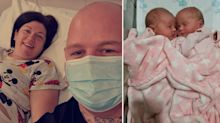 Mum gives birth to twins after discovering pregnancy after virus coma