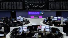 European share rebound loses steam, steel stocks gain on U.S. move