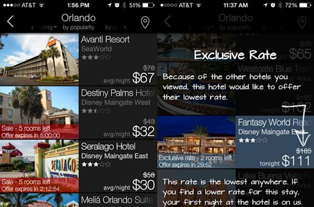 Roomlia for iPhone offers nice travel booking options