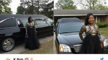 This teen made her prom entrance in a casket