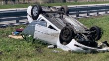 Driver injured in crash trying to avoid flying couch cops $200 fine