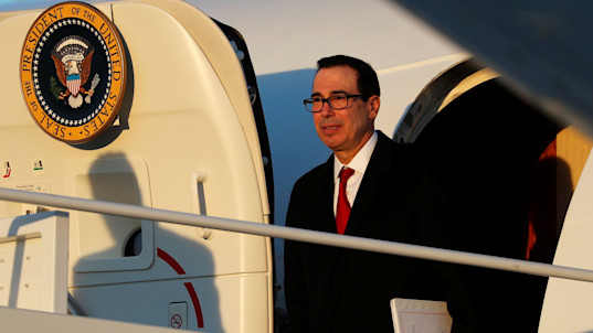 Report raises questions about Mnuchin's travel