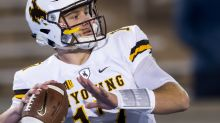 Wyoming QB Josh Allen goes through senior day festivities