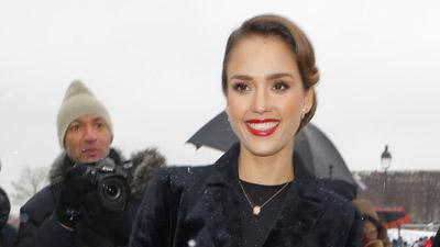 Weaver, Alba Sit Front Row at Dior