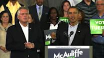 Obama: Elect McAuliffe in Va. to choose compromise over friction