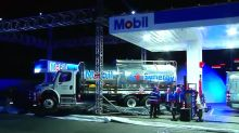 First Mobil gas station opens in Mexico.