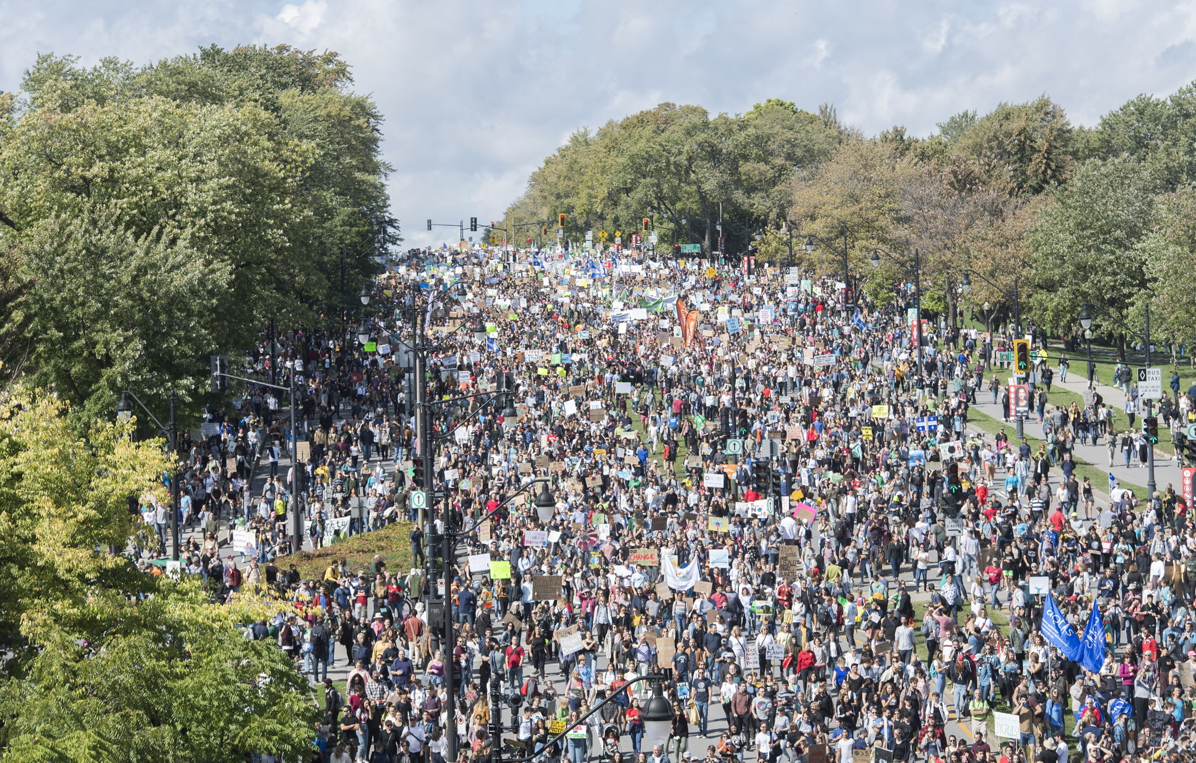 Thunberg leads massive climate march in Montreal