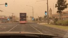 Dust Storm Turns Sky Orange in Northwestern Victoria
