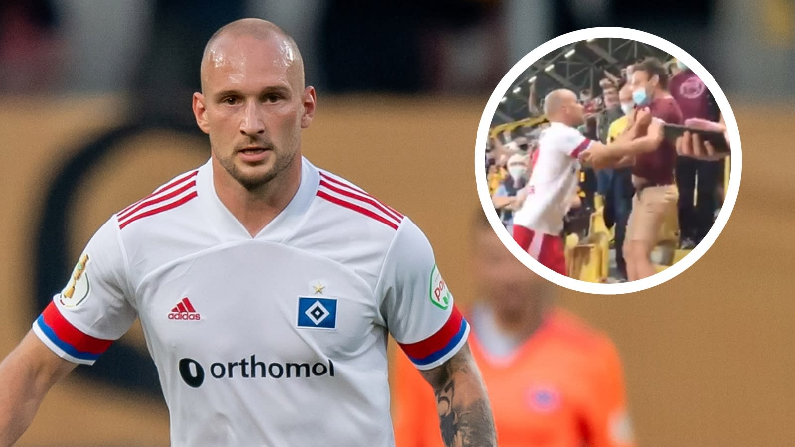 Hamburg player Leistner given three-match ban for entering crowd and attacking fan following cup defeat