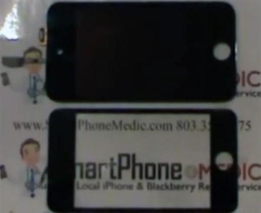 Possible iPod touch LCD and digitizer assembly compared to older gen, iPhone 4 (video)