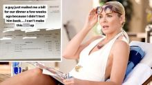 Woman receives weird invoice after ghosting her date