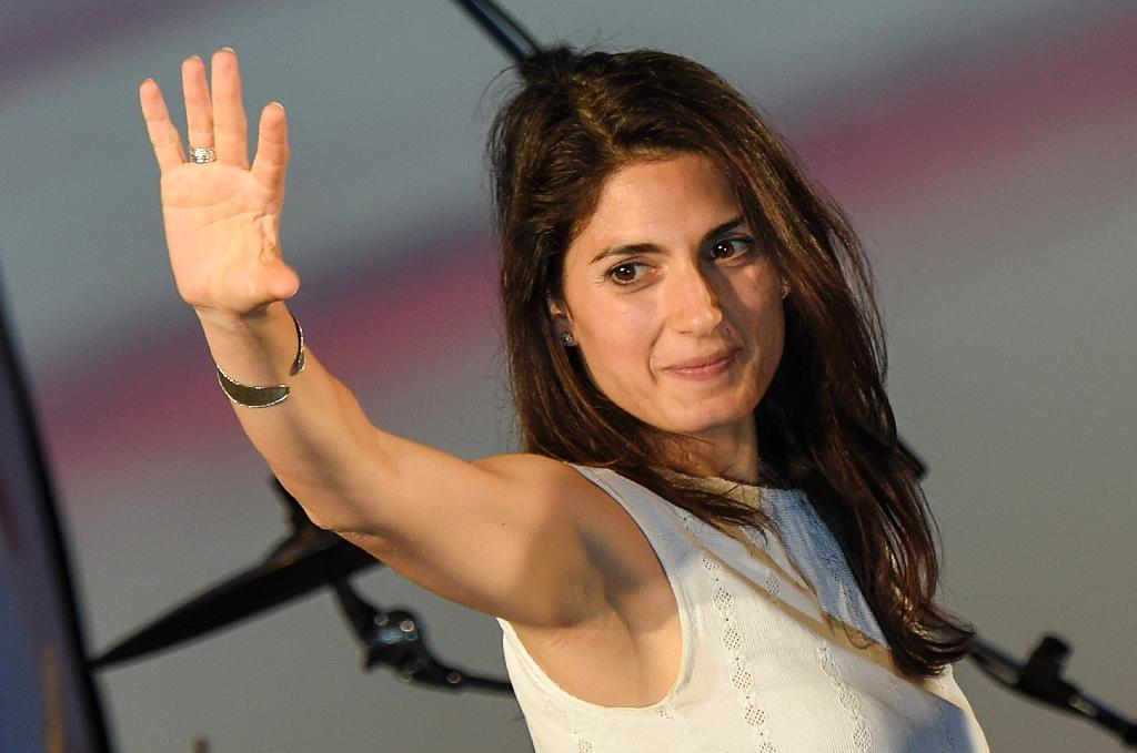 Virginia Raggi, the Five Star Movement candidate for the mayoral elections in Rome, looks set to become the city's first female in the position (AFP Photo/Andreas Solaro)