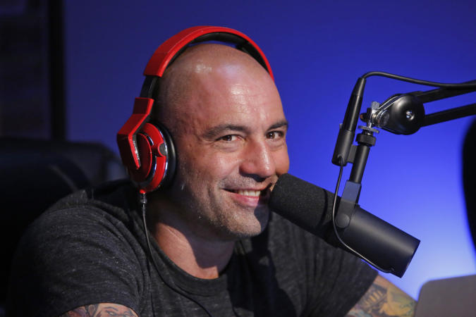 """JOE ROGAN QUESTIONS EVERYTHING -- """"Podcast"""" -- Pictured: Joe Rogan -- (Photo by: Vivian Zink/Syfy/NBCU Photo Bank/NBCUniversal via Getty Images)"""