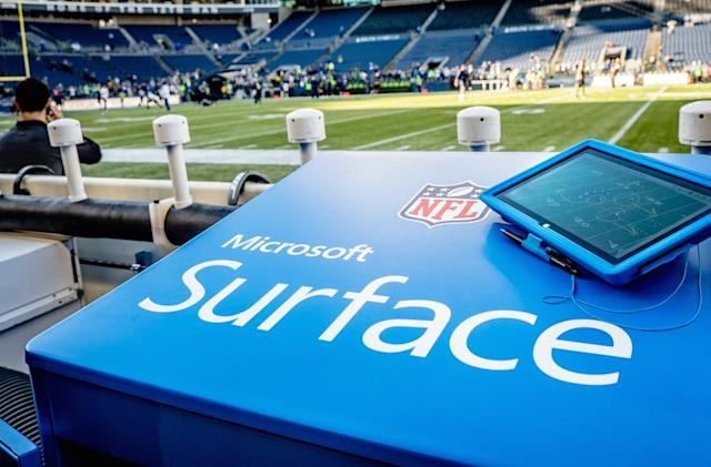 Microsoft extends NFL deal for Surface on the sidelines
