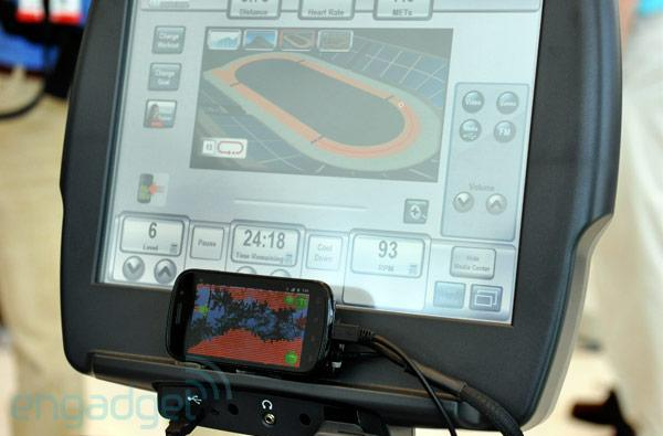 LifeFitness exercise bike interfaces with Nexus S, makes fitness marginally enjoyable (video)