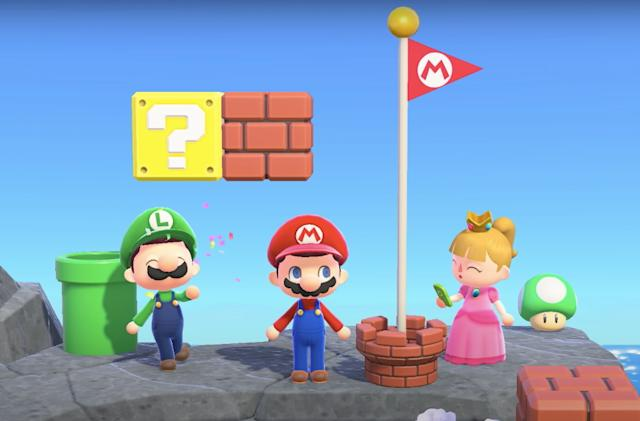 Animal Crossing's Mario update lets you recreate the Mushroom Kingdom