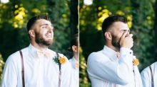 This Groom's Emotional Reaction To His Bride Is Just So Romantic