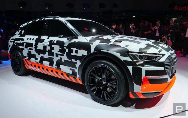Audi's e-tron SUV drives a modest 248 miles per charge