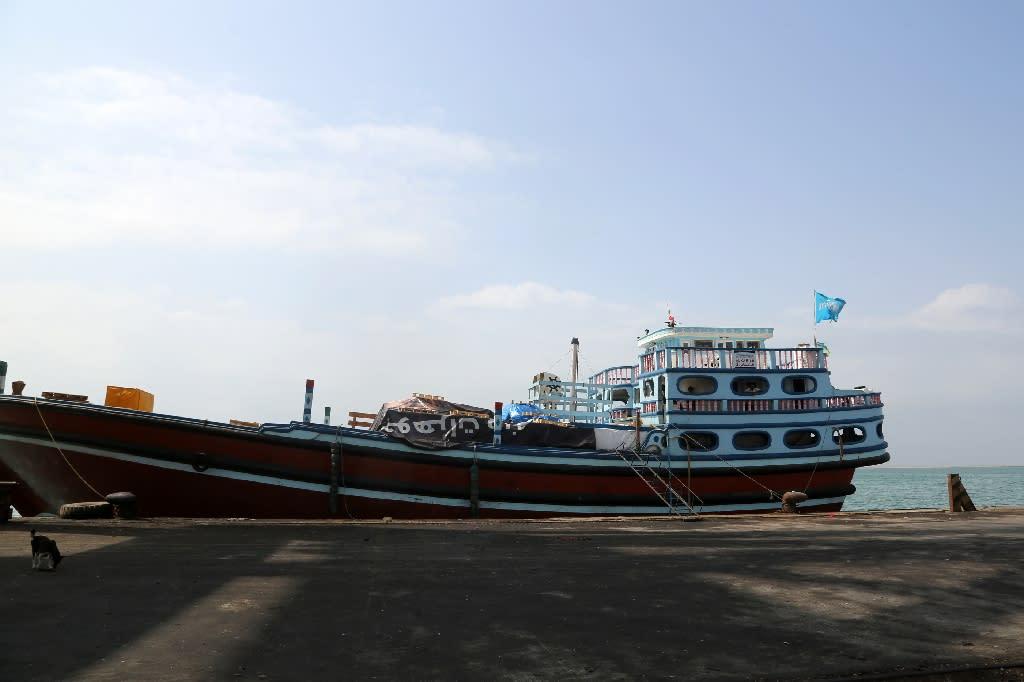 The air strike occurred in the district of Al-Hali near the Yemeni port of Hodeida (AFP Photo/Abdo HYDER)