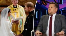 James Corden nearly ruined the royal wedding vows