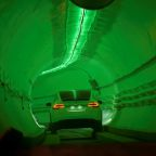 Elon Musk unveils his first Los Angeles-area tunnel