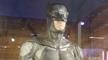 Here's a closer look at Batman's Justice League suit