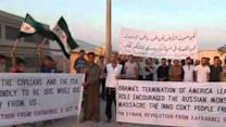 Syrians Demonstrate Against Russian Airstrikes