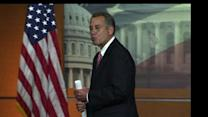 Boehner blows valentine kiss to reporter