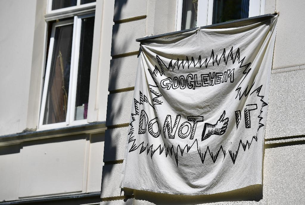 Activists in Kreuzberg are pulling no punches in their battle against Google (AFP Photo/Tobias SCHWARZ)