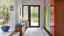 These Color-Coded Lockers Are a Genius Addition to a Family Home