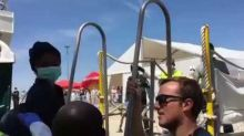 Migrants on Aquarius Rescue Ship Arrive in Valencia to Sound of Applause