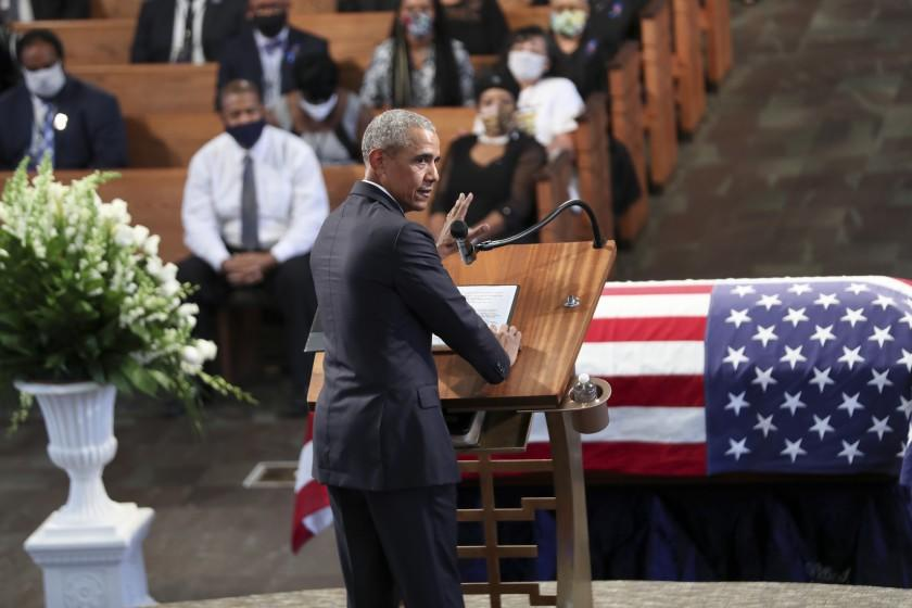 Eulogized by presidents and civil rights leaders, John Lewis laid to rest in Atlanta
