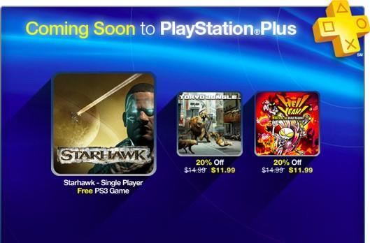 Starhawk campaign free, Tokyo Jungle and Hell Yeah discounted on PS Plus