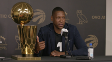 Masai Ujiri delivers the goods at end-of-season press conference